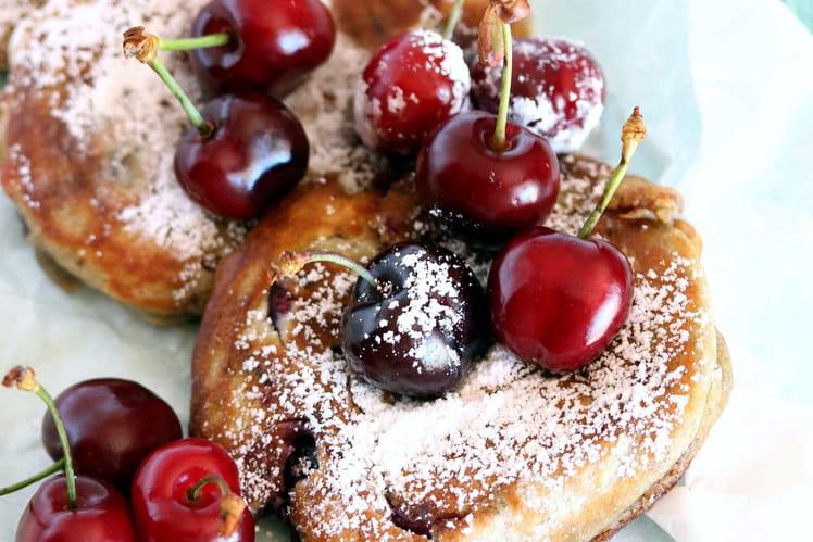 Pancakes moelleux aux cerises