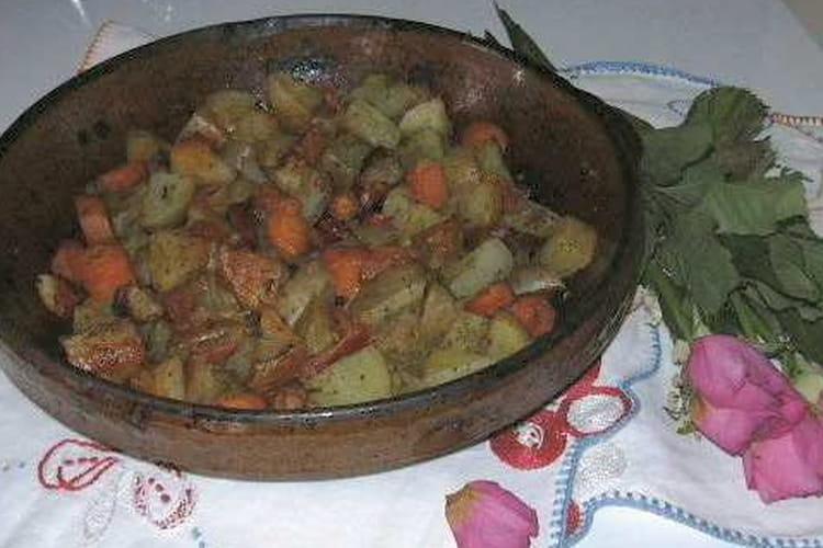 Mélimélo de légumes au chorizo