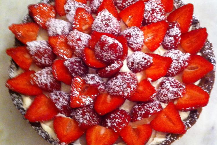 Tarte aux fraises à la crème de mascarpone