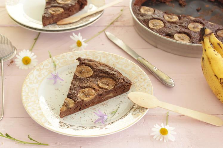 Gâteau banane et chocolat, sans beurre, sans sucre
