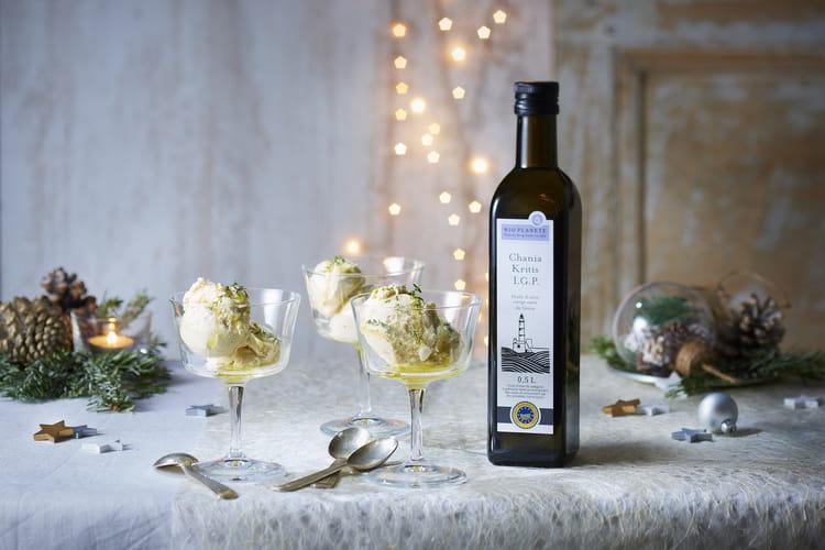 Glace au miel de thym et huile d'olive Chania Kritis I.G.P. par Bio Planète