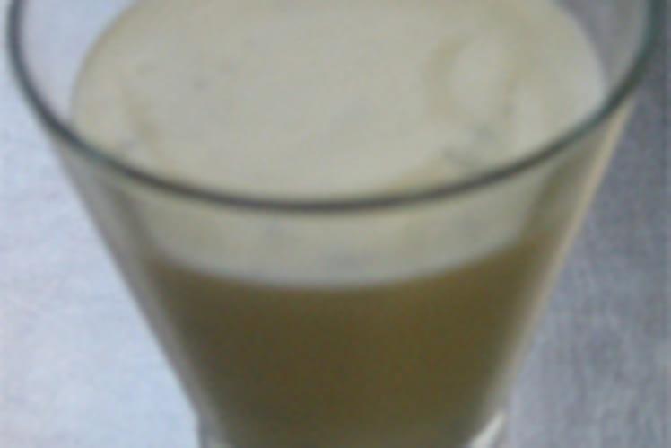Mousse légère au basilic frais