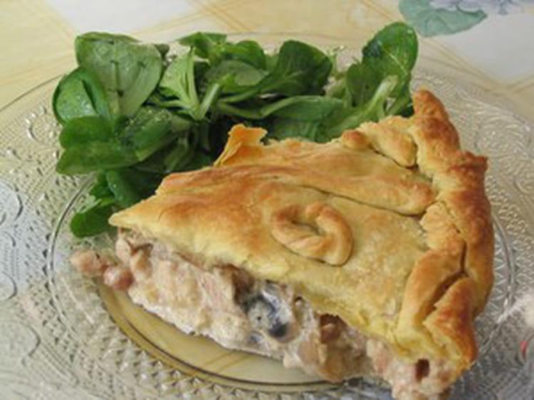Recette de tourte aux champignons et escalope de poulet - Comment cuisiner des escalopes de poulet ...