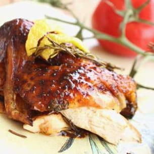 poulet rôti au miel et citron