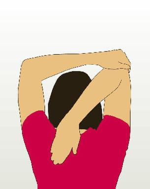 etirez vos triceps avec ce mouvement...