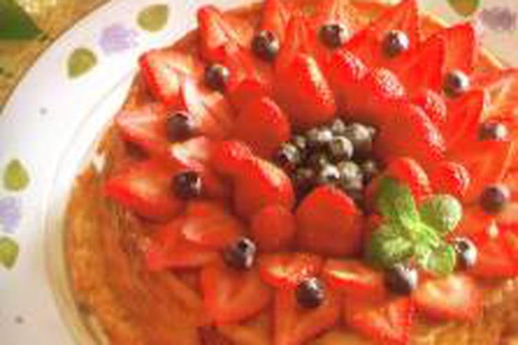 Tarte renversée aux fraises