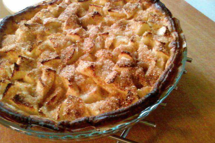 Tarte crousti-fondante aux pommes et amandes