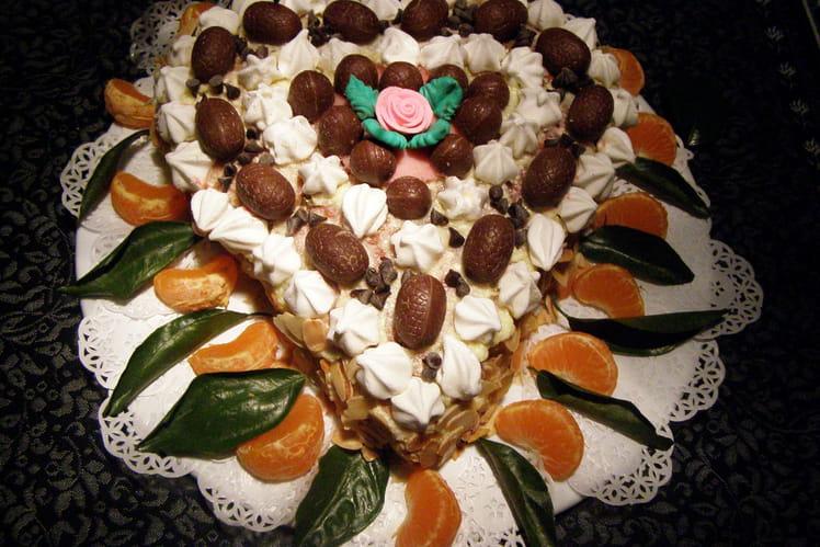 Gâteau aux fraises, crème mousseline et Kirsh