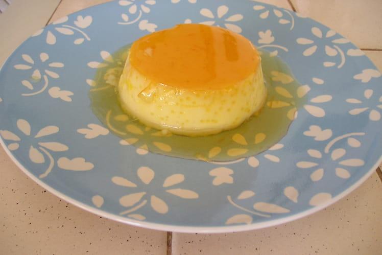 Crème renversée à l'orange, nappée caramel