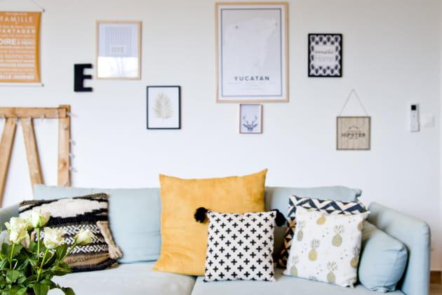 28 id es pour d corer le mur au dessus du canap. Black Bedroom Furniture Sets. Home Design Ideas