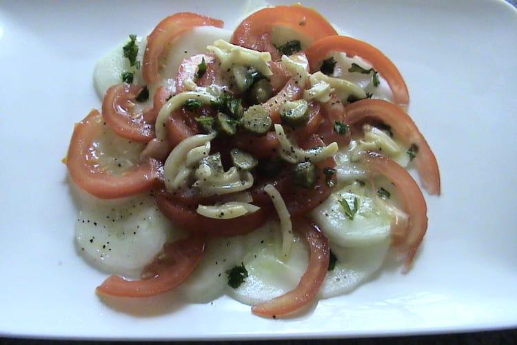 Salade tomates concombres