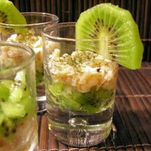 verrines au crabe et au kiwi