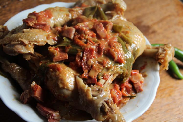 Poulet basquaise au piment doux