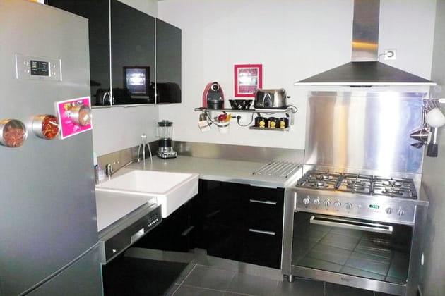 la cuisine joue la carte de l 39 inox. Black Bedroom Furniture Sets. Home Design Ideas