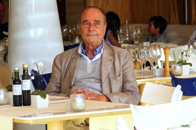 Jacques Chirac en terrasse à Saint-Tropez (2011)