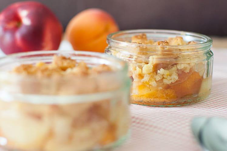 Crumble aux nectarines et abricots