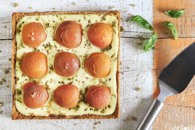 Tarte façon cheesecake aux abricots