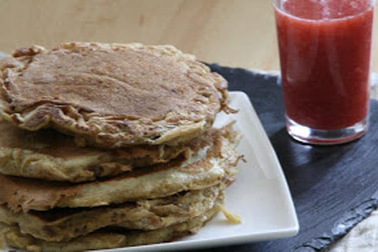 Pancakes et leurs Coulis de Fraise