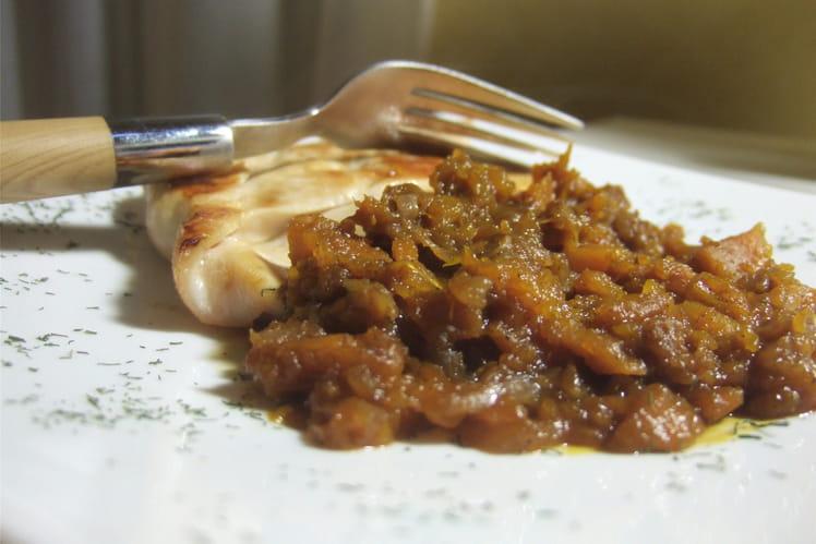 Chutney de potiron à la cannelle