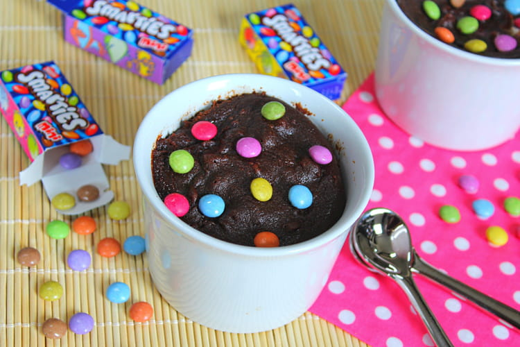 Brownie aux Smarties Façon Mug Cake