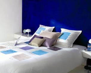 linge de lit 'outremer' de carré blanc