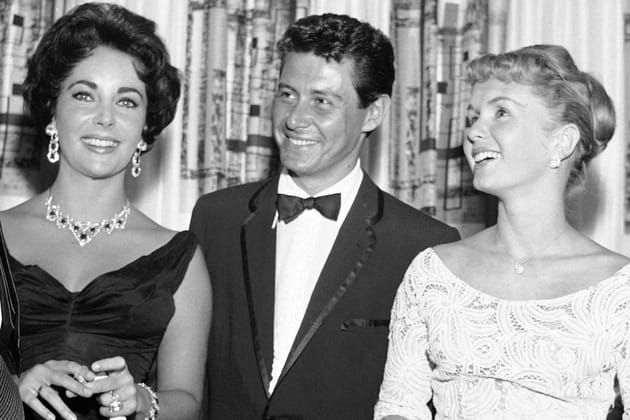Avec Elizabeth Taylor et Eddie Fisher