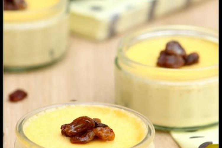 Crèmes rhum-raisins