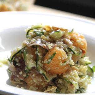 taboulé de quinoa, courgette et melon