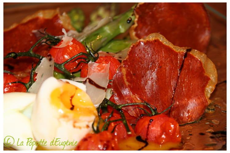 Tomates rôties aux asperges vertes