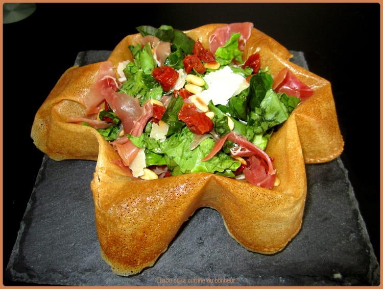 Recette de salade italienne dans sa feuille de brick la recette facile - Cuisiner feuille de brick ...