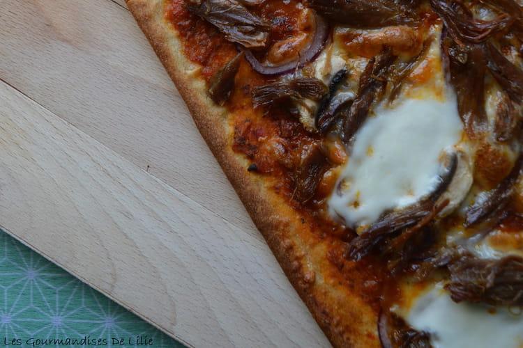 Pizza au confit de canard