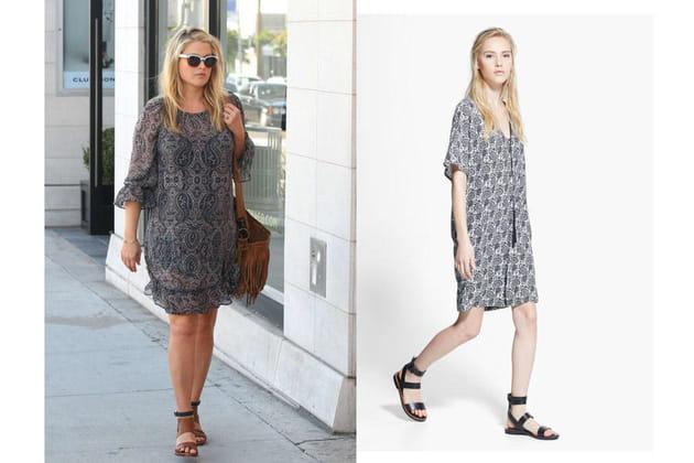 Ali Larter : une robe imprimée