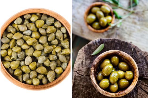 Câpres ou olives vertes?
