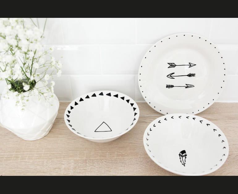 DIY: décorer de la vaisselle avec des motifs Navajo