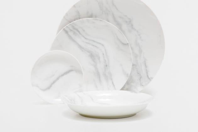 Vaisselle imitation marbre