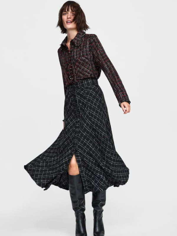 feb98cdcdddb Jupe plaid de Zara © Zara