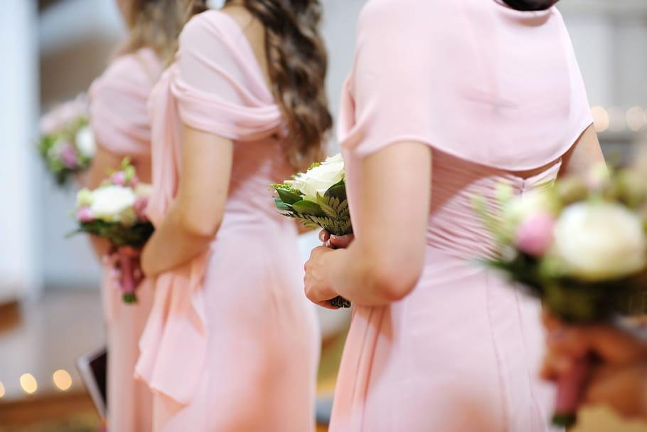 Une robe pastel pour demoiselles d'honneur
