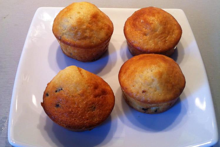 Muffins classiques aux pépites de chocolat
