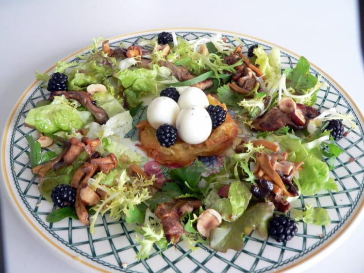 recette de salade des sous bois la recette facile. Black Bedroom Furniture Sets. Home Design Ideas