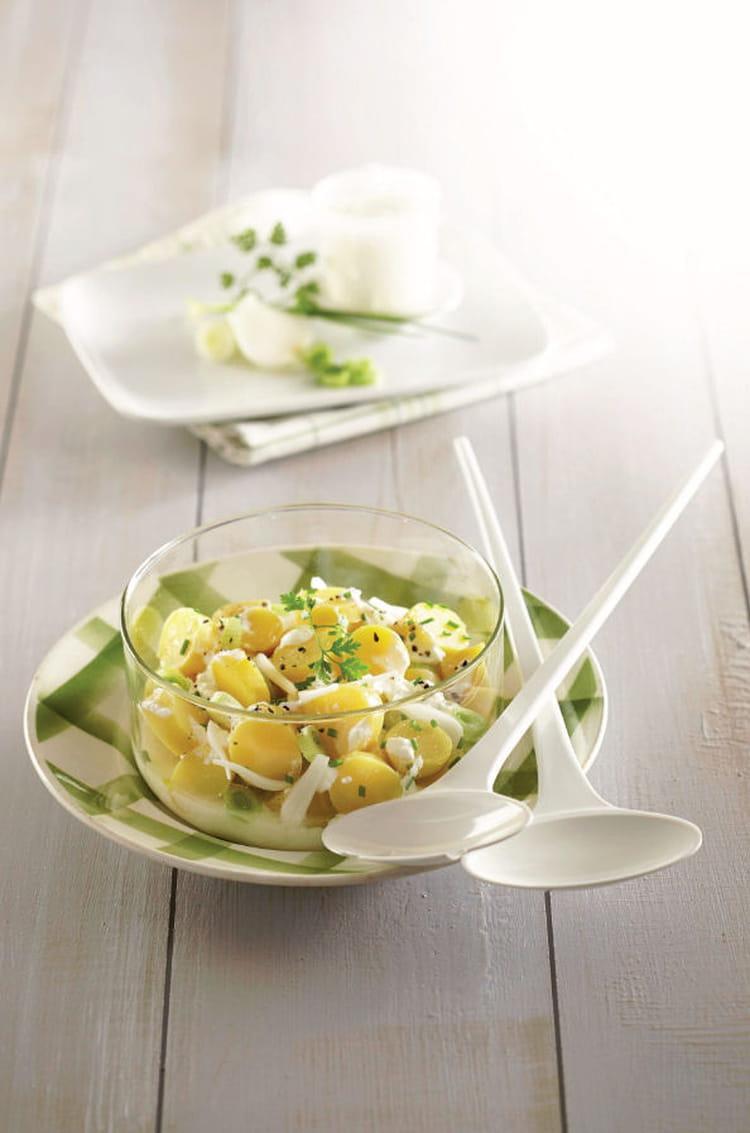 Recette de salade ti de de ratte du touquet la recette facile - Cuisiner la ratte du touquet ...