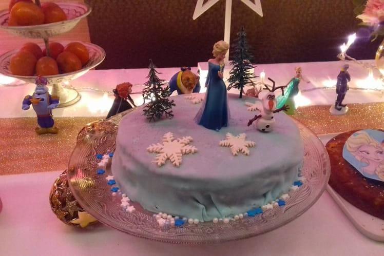 Rainbow Cake Reine des Neiges