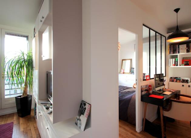 cr er une chambre de 7 m. Black Bedroom Furniture Sets. Home Design Ideas