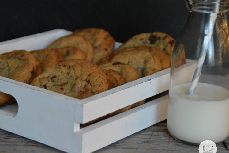 Cookies praline chocolat et vergeoise blonde