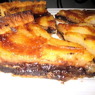 tarte poires-chocolat caramélisée