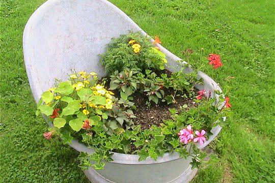 Un bain de fleurs