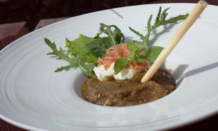 recette de caviar d 39 aubergine brousse jambon cru et gressin la recette facile. Black Bedroom Furniture Sets. Home Design Ideas