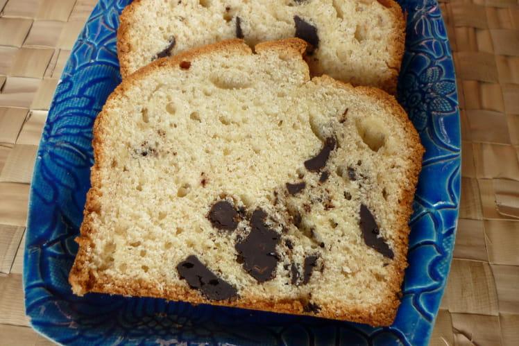 Cake à la banane et pépites ede chocolat