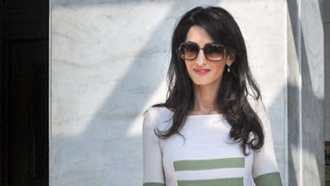 Le look people du jour : Amal Clooney