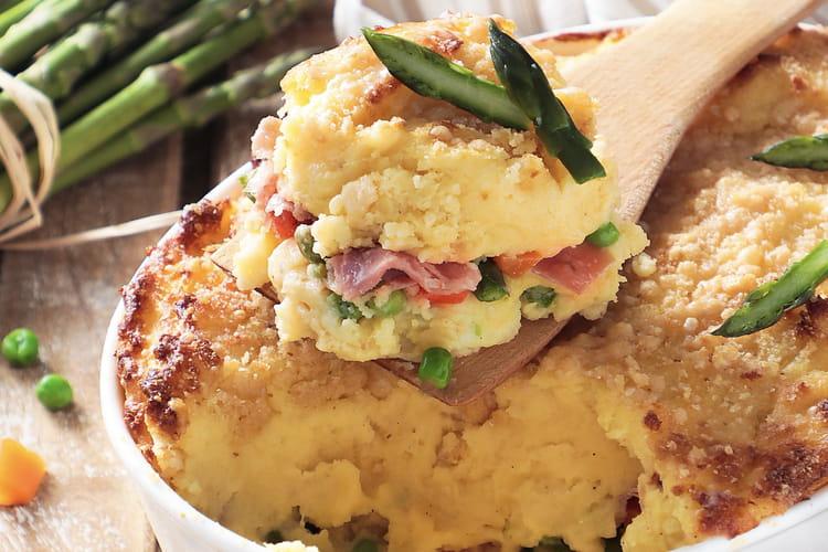Gâteau de pommes de terre printanier et Jambon de Parme