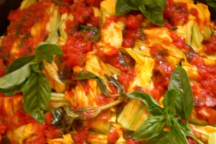 Fleurs de courgettes farcies végétariennes